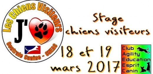 CAEEC - Stage Chiens Visiteurs 18 et 19 mars 2017